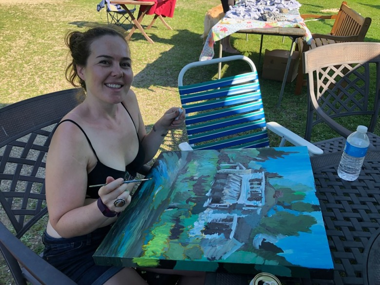 Painting at the Farm